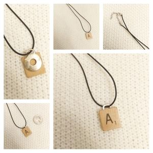 Handmade Upcycled Scrabble Tile A Necklace